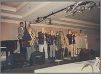 Paul Gormley, Don Lodice, Bob Higgins, Mike Vax, and Dan Barrett [photograph, front]