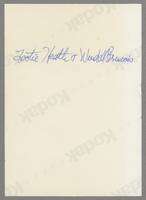 Tottie Heath and Wendell Brunious [photograph, back]