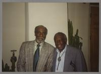 John Heard and Milt Hinton [photograph, front]