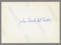 John Heard and Milt Hinton [photograph, back]