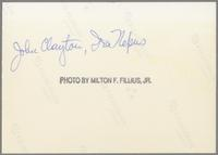 John Clayton and Ira Nepus [photograph, back]
