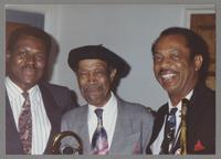 Charlie Owens, Al Grey, and George Bohanon [photograph, front]
