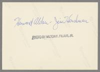 Howard Alden and Jim Hershman [photograph, back]