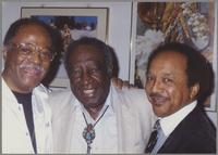 Clark Terry, Milt Hinton, and Snooky Young [photograph, front]