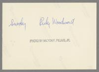 Ricky Woodard and Snooky Young [photograph, back]