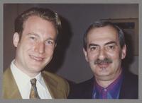 Jon Erik Kellso and Kenny Davern [photograph, front]