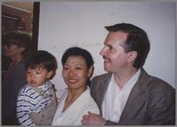 Scott and Manami Iimura Hamilton and son [photograph, front]