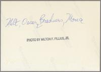 Milt Hinton and Oscar Brashear [photograph, back]