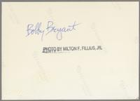 Bobby Bryant [photograph, back]