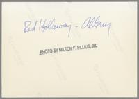 Red Holloway and Al Grey [photograph, back]