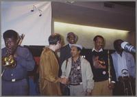George Bohanon, Roger Kellaway, Snooky Young, Al Grey, Charlie Owens, and Thurman Green [photograph, front]