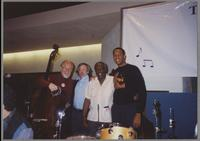 Red Mitchell, Herb Mickman, Milt Hinton, and John Clayton [photograph, front]