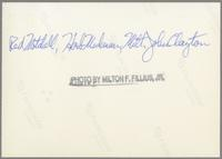 Red Mitchell, Herb Mickman, Milt Hinton, and John Clayton [photograph, back]