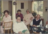 Unknown person, Ralph Sutton, Elsa Davern, Sunnie Sutton, and unknown person [photograph, front]