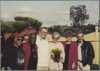 Mona and Milt Hinton; Ralph and Sunnie Sutton, and Elsa and Kenny Davern [photograph, front]