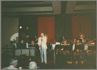 Unknown big band, Pug Horton, and Bob Wilber [photograph, front]