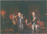 Howard Alden, Kenny Davern, Bob Haggart, and Bob Wilber [photograph, front]