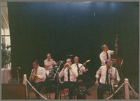 Gremoli Jazz Band; Ron Going, Bert Thompson, Ted Thomas, Vic Loring, Mike Fay, and Jim Leigh [photograph, front]