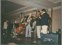 Ralph Sutton, Greg Cohen, Rick Fay, Wendell Brunious, and Dan Barrett [photograph, front]