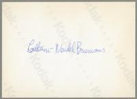 Leitham, Wendell Brunious [photograph, back]