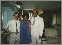 Monk Rowe, Ruth Brown, and Michael Woods [photograph, front]
