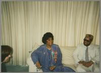 Mary Kopcza, Ruth Brown and Michael Woods [photograph, front]
