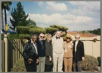 Milt Hinton, Kenny Davern, Elsa Davern, Ralph Sutton, Mona Hinton, and Sunnie Sutton [photograph, front]