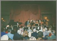 Dick Hyman, Gray Sargent, Keter Betts, Pete Christlieb, Plas Johnson, Norris Turney, Bob Wilber, Joe Temperley, George Masso, Dan Barrett, Buster Cooper, Bob Barnard, and Snooky Young [photograph, front]