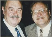 Bob Barnard and Warren Vache [photograph, front]