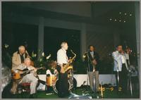 Bob Haggart, Herb Ellis, Tommy Newsom, Wendell Brunious, and Dan Barrett [photograph, front]