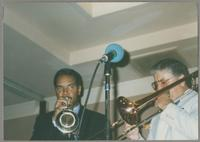 Wendell Brunious and Dan Barrett [photograph, front]