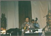 Roger Neumann and unknown base player [photograph, front]
