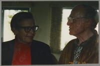 Bob Wilber and unknown person [photograph, front]