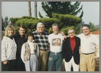 Kristine Fillius, Fillius, Tony, Nelma Fillius, Milton Fillius, Jr., Butch Miles, Bob Wilber, and Dan Barrett [photograph, front]