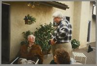 Unknown man, Milton Fillius, Jr. and Julia Hyman [photograph, front]