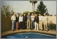 Dean Abelon, Nancy Abelon, Kristine Fillius, Fillius, Tony, Milton Fillius, Jr. Butch Miles, Bob Wilber, Dan Barrett, and unknown man [photograph, front]