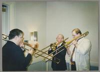 Dan Barrett, George Masso, and John Allred [photograph, front]