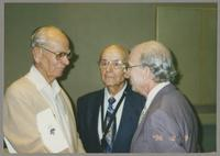 Unknown man; Flip Phillips, and Dick Hyman [photograph, front]