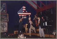 Mike Pittsley, Jim Cullum, Don Mopsick, Brian Ogilvie, and Howard Elkins [photograph, front]