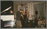 Michael Moore, Scott Robinson, Dan Barrett, and Bob Reitmeier [photograph, front]