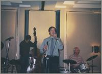 Greg Cohen, Peter Ecklund, and Jake Hanna [photograph, front]