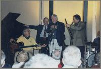 Bucky Pizzarelli, Jay Leonhart, Jim Galloway, Ken Peplowski, and Ronnie Bedford [photograph, front]