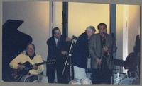 Bucky Pizzarelli, Jay Leonhart, Jim, Galloway, and Ken Peplowski [photograph, front]