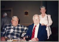 Milt Fillius, Johnny Best, and unknown woman [photograph, front]