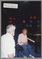 Unknown man and Marian McPartland [photograph, front]