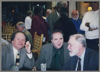 Warren Vaché, Ken Peplowski, and Michael Moore [photograph, front]