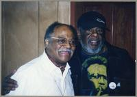 Clark Terry and unknown man [photograph, front]