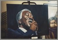 Painting of Joe Williams [photograph, front]