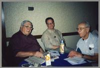 Milt Fillius Jr., Don Fillius, and unknown man [photograph, front]