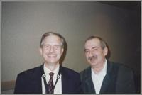 Butch Miles and Kenny Davern [photograph, front]